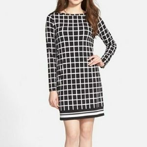 Michael Michael Kors Black White Shift Dress small
